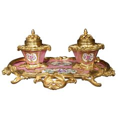 19th century ormolu sevres centerpiece | 19th Century French Louis XV St. Sevres Porcelain And Ormolu Mounted ...