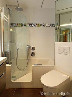 Auf wenig Raum ein Komfortbad - mit der TWINLINE 2 Duschbadewanne und einer gekonnten Einteilung www.artweger.at