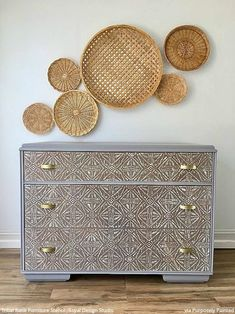 The BEST DIY Home Decor Hacks to Try: Paint Batik Fabric Designs with Wall Stencils & Furniture Stencils from Royal Design Studio moderninterior Furniture Projects, Cool Furniture, Painted Furniture, Furniture Stencil, Outdoor Furniture, Diy Projects, Bedroom Furniture, Furniture Usa, Furniture Buyers