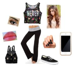 """""""Untitled #385"""" by starcommings ❤ liked on Polyvore featuring Chicnova Fashion, Vans, Incoco, Revlon, Forever New and Squair"""