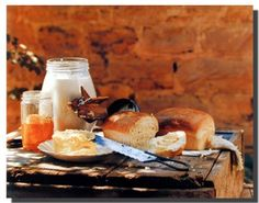 Absolutely Wow! This homemade country bread butter gore food still life art print poster will surely enhance the ambiance of your habitat. This wall decor poster will make a pretty addition to any kitchen. This poster is made of using high quality paper with premium Eco-solvent inks which will definitely pop off the wall with its stunning clarity and color accuracy. Order today and enjoy your surroundings.