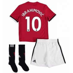 Manchester United Zlatan Ibrahimovic 10 kläder Barn 17-18 Hemmatröja Kortärmad  #Billiga fotbollströjor Anthony Martial, Marcus Rashford, Manchester United, Sock Shop, Short Socks, Jersey Shorts, Full Set, Youth, The Unit
