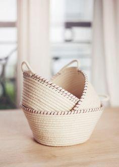 DIY Rope Baskets or Bowls | Elle Frost