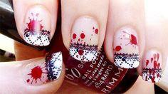 goth nail art | yo me animare a hacer las de la primera imagen y prometo subir las al ...