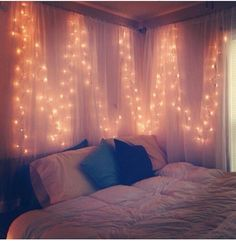 lights inside of curtains