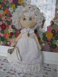 Купить Красотуля - белый, кукла ручной работы, кукла текстильная, кукла интерьерная, кукла в подарок
