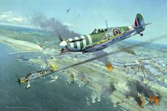 Spitfire Mk.Vb over Dieppe August 19th 1942