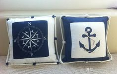Wholesale 40*40cm Embroidery Navy Blue Sea Anchor Pillow Case Canvas Compass Lobster Pillow Cushion Cover Nautical Ikea Home Decor A046 Patio Furniture Replacement Cushions Lawn Furniture Cushions From Comee, $36.68| Dhgate.Com