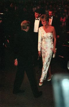 "September 19, 1991: Princess Diana at the ""Stepping Out"" Premiere."