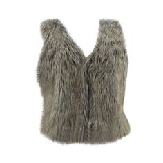 Ambiance - Women's Fur Vest - Beige/White
