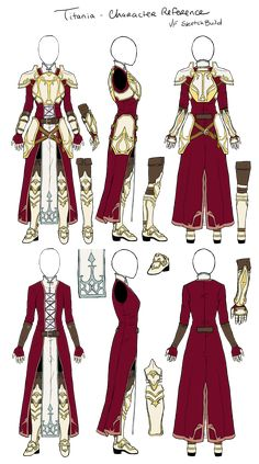 Titania Build Reference Color Fire Emblem by Renna-Mira on DeviantArt Inspiration Drawing, Character Design Inspiration, Anime Outfits, Cool Outfits, Fashion Outfits, Vetements Clothing, Kleidung Design, Fashion Design Drawings, Drawing Clothes