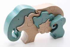 Břichopas about toys: Ginga Kobo Toys Animal Puzzle, Puzzle Art, Wooden Puzzles, Wooden Toys, Easy Projects, Wood Projects, Wood Toys Plans, Wooden Elephant, Eco Friendly Toys