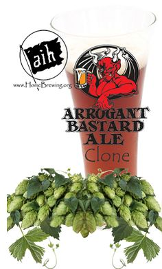 Arrogant Bastard Clone Recipe Kit. I love Arrogant Bastard. I am definitely going to give the clone a go.