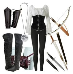A fashion look from January 2012 featuring peasant blouses, legging pants and lace boots. Browse and shop related looks. Komplette Outfits, Fandom Outfits, Cosplay Outfits, Fashion Outfits, Fashion Women, Women's Fashion, Moda Medieval, Medieval Dress, Medieval Clothing