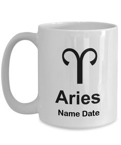 Aries Birthday Gifts Best March April Man Women Travel Coffee Mug Zodiac Sign Friend Christmas Astrology Star Sign Present Queen Girl Cup AF by GoodGiftCreations Aries Birthday, May Birthday, Birthday Gifts For Sister, Birthday Quotes, Christmas Birthday, Best Gift For Wife, Gifts For Wife, Gifts In A Mug, Gift Mugs
