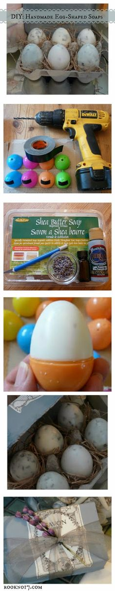 DIY Handmade Egg-Shaped Soaps, Using Plastic Easter Eggs #easter #handmade