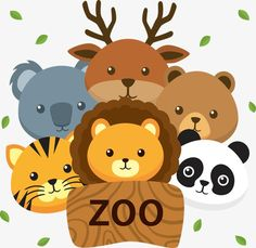 Zoo, Cartoon PNG y Vector para Descargar Gratis