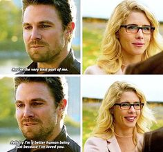 Oliver reciting his vows to Felicity in Crisis on Earth-X