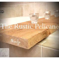 Wood Bathtub Caddy- Rustic Wooden bath tray ($129) ❤ liked on Polyvore featuring home, bed & bath, bath, bath accessories, wooden bathtub caddy, wood caddy, rustic wood tray, bath tub tray and bath tub caddy
