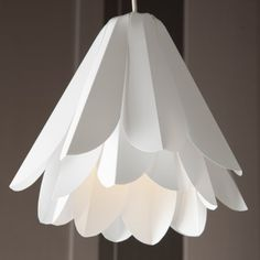 Ruffle origami polypropylene lamp shade white by fiberstore ruffle origami polypropylene lamp shade white by fiberstore minimalist lamp pinterest ruffles ruffle lamp shades and lamp socket mozeypictures Image collections