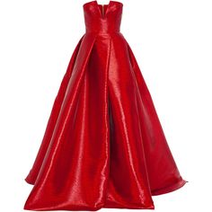 Alex Perry Benison Gown (€3.525) ❤ liked on Polyvore featuring dresses, gowns, long dress, alex perry, red, long dresses, red gown, strapless ball gown, red ball gown and evening ball gowns