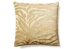 Tiger 16x16 Pillow, Gold