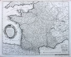 A Map of France, With the Dominions appertaining thereto, From the Latest and Best Observations. - Antique Maps and Charts – Original, Vintage, Rare Historical Antique Maps, Charts, Prints, Reproductions of Maps and Charts of Antiquity