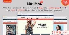 Responsive OpenCart Theme Template - Minimal Fashion Store