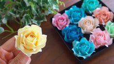 100均メモ用紙で作るバラの花の作り方 - DIY How to Make Paper Roses Rolled Paper Flowers, Paper Flower Garlands, Paper Flowers Craft, Paper Crafts Origami, Easy Paper Crafts, Diy Arts And Crafts, Flower Crafts, Diy Flowers, Rose Flowers