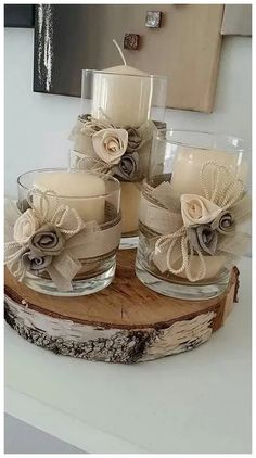 minutes simple christmas candles decoration – Welcome My World Christmas Wedding Centerpieces, Christmas Candle Decorations, Christmas Candles, Diy Centerpieces, Homemade Decorations, Wedding Decoration, Vase Decorations, Mason Jar Crafts, Mason Jars