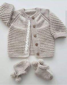 Diy Crafts - Image of Rillo Og Hyggen Str. Baby Boy Knitting Patterns, Baby Cardigan Knitting Pattern, Knitted Baby Cardigan, Hand Knitted Sweaters, Baby Patterns, Knitted Coat, Knit Hat Pattern Easy, Diy Crafts Knitting, Quick Knits