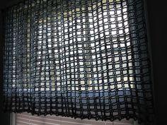 crochê cortinas de algodão