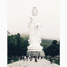 The world's tallest Gwun Yin (Goddess of Mercy) and she's a beauty! #tszshanmonastery #慈山寺 #TungTsz #villagelife #HongKong #kitleexhongkong #travelgram #canong16 #vscocam #kleetravels by styleslicker