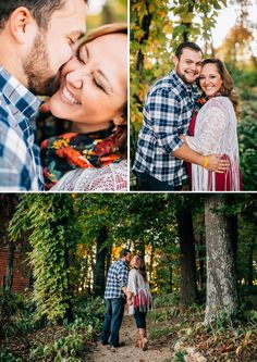Love this woodland setting. See more from this surprise Tri-Cities wedding proposal and engagement announcement! Pics: @andrewerinphoto   The Pink Bride www.thepinkbride.com
