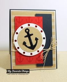 card nautical MFT porthole & anchor  #MFTStamp