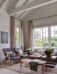 Amber Interiors has renovated this incredibly beautiful home with a rustic farmhouse vibe set on a beachside property in Malibu, California. Living Room Designs, Living Spaces, Living Area, Living Rooms, House Rooms, Living Room Furniture, Living Room Decor, Cabinet Furniture, Home Interior