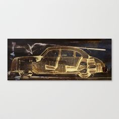 Old Car Stretched Canvas by Fernando Vieira