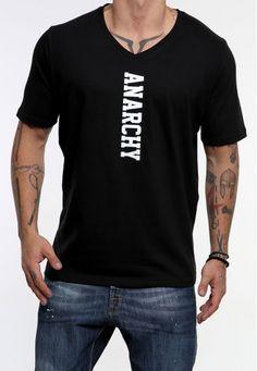 V anarchy #vagrancylifestyle #handmade #tops #man Anarchy, Mens Tops, T Shirt, Handmade, Fashion, Hand Made, Moda, Tee Shirt, Fashion Styles