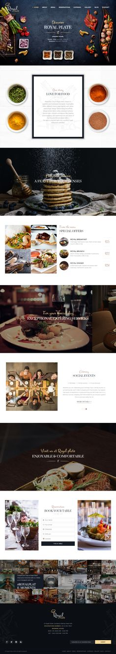 Royal Plate is Premium full Responsive #HTML5 #Restaurant #Template. Retina Ready. Parallax Scrolling. Bootstrap 3 Framework. Test free demo at: http://www.responsivemiracle.com/royal-plate-premium-responsive-restaurant-and-catering-html5-template/