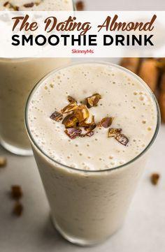 Protein Smoothies, Smoothie Fruit, Strawberry Smoothie, Breakfast Smoothies, Smoothie Drinks, Date Smoothie Recipes, Shake Recipes, Coconut Milk Smoothie, Breakfast
