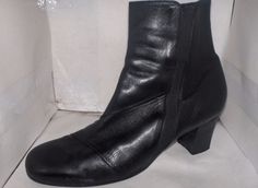 BEAUTIFEEL WOMENS BLACK LEATHER HIGH TOP ANKLE BOOTS SIZE 10.5/41.. #BEAUTIFEEL #AnkleBoots #Casual