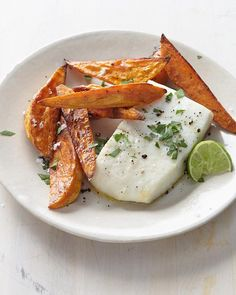 Week 3: Halibut with Sweet Potato Fries and Lime