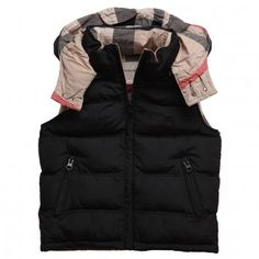 Burberry Black Body Warmer with New Nova Check Lining $178.48.. want for christmas!!!
