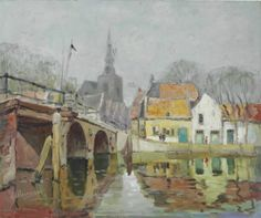 """""""Overschie, Holland,"""" Anthony Thieme, oil on canvas, 25 x 30"""", private collection."""