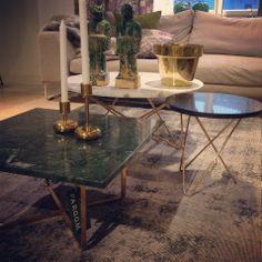 Vi gillar marmor! En av årets hetaste trender. Pris från 3.900kr #marmor #marble #mässing #bord #table #butikenroom #favoritpåroom