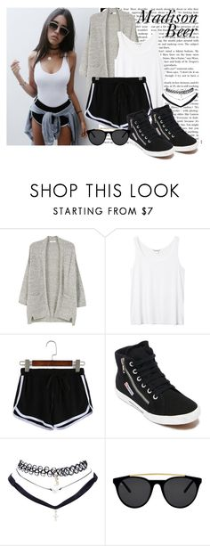 """""""#152 Madison Beer"""" by beautybluebear ❤ liked on Polyvore featuring MANGO, Monki, WithChic, Superga, Wet Seal and Smoke x Mirrors"""