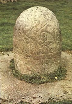 Turoe Stone from Loughrea, Co. Galway. It is decorated in the La Tène style and dates from approximately 200 BC.
