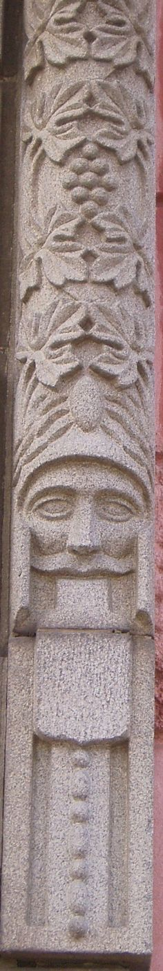 Decoration on a Jugend house in Vaasa, Finland