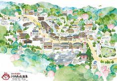 川内高城温泉(せんだいたきおんせん)公式HP   高城温泉の絵地図