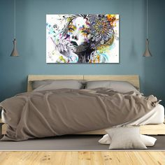 Flowers of Thought - Modern Abstract Canvas Art